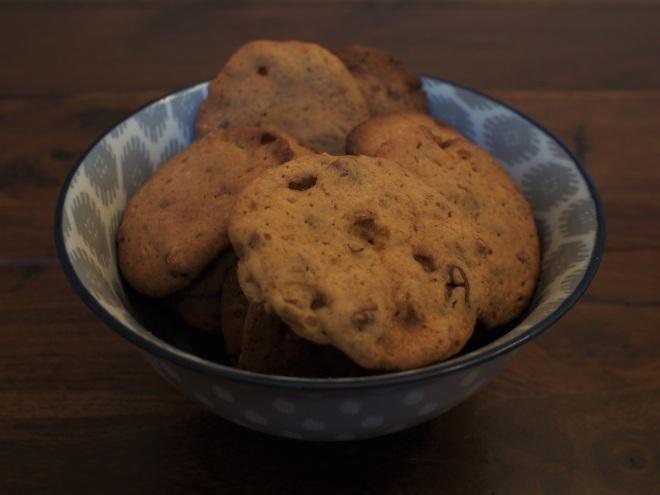 Salted Caramel and Pecan Cookies